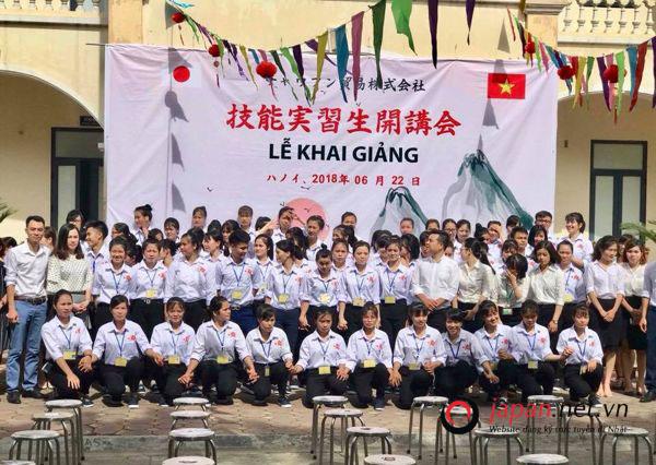 Tổ chức khai giảng khóa học đơn hàng chế biến thủy sản đi nhật tại trung tâm Nam An Khánh