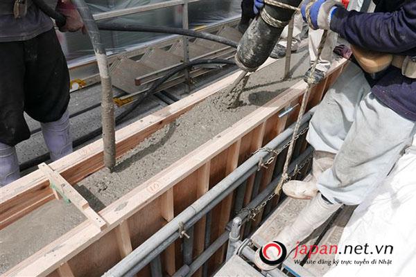 SỰ THẬT: Công việc thực tế của đơn hàng đổ bê tông Nhật Bản