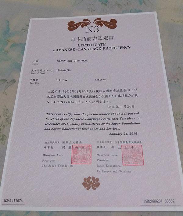 Thông báo lịch đăng kí hồ sơ thi năng lực tiếng Nhật JLPT lần 1 tháng 7/2019