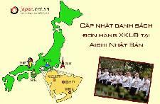 Cập nhật danh sách đơn hàng XKLĐ tại Aichi Nhật Bản